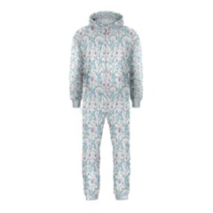 Intricate Floral Collage  Hooded Jumpsuit (Kids)