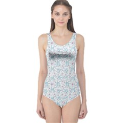 Intricate Floral Collage  One Piece Swimsuit