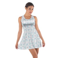 Intricate Floral Collage  Cotton Racerback Dress