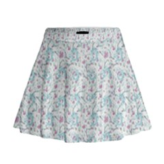 Intricate Floral Collage  Mini Flare Skirt