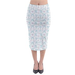 Intricate Floral Collage  Midi Pencil Skirt
