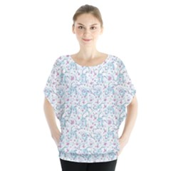 Intricate Floral Collage  Blouse