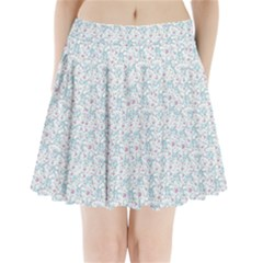 Intricate Floral Collage  Pleated Mini Skirt