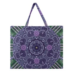 Star Of Mandalas Zipper Large Tote Bag