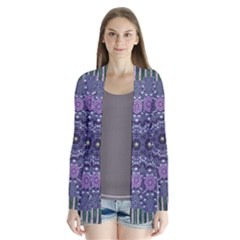 Star Of Mandalas Drape Collar Cardigan