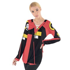 Flag of Canton of Glarus Women s Tie Up Tee