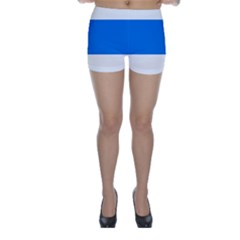 Flag of Canton of Zug Skinny Shorts