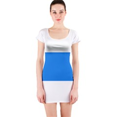 Flag of Canton of Zug Short Sleeve Bodycon Dress