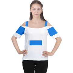 Flag of Canton of Zug Women s Cutout Shoulder Tee
