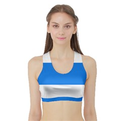 Flag of Canton of Zug Sports Bra with Border
