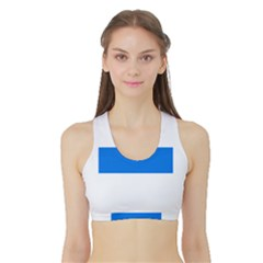 Flag of Canton of Zug Women s Reversible Sports Bra with Border