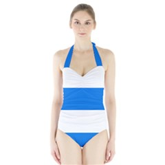 Flag of Canton of Zug Halter Swimsuit