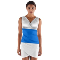 Flag of Canton of Zug Wrap Front Bodycon Dress