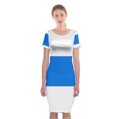 Flag of Canton of Zug Classic Short Sleeve Midi Dress