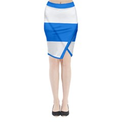 Flag of Canton of Zug Midi Wrap Pencil Skirt