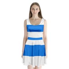 Flag Of Canton Of Zug Split Back Mini Dress