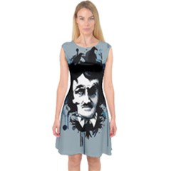 Edgar Allan Crow Capsleeve Midi Dress
