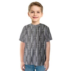 Woven Cords Weave Pattern Texture Textie Kids  Sport Mesh Tee