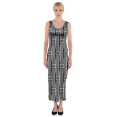 Woven Cords Weave Pattern Texture Textie Fitted Maxi Dress