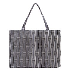 Woven Cords Weave Pattern Texture Textie Medium Tote Bag