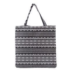 Zentangle Lines Pattern Grocery Tote Bag