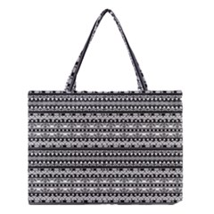 Zentangle Lines Pattern Medium Tote Bag