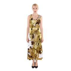 Mechanical Steampunk Sleeveless Maxi Dress