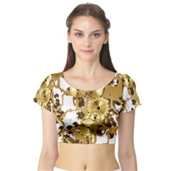 Mechanical Steampunk Short Sleeve Crop Top (Tight Fit)