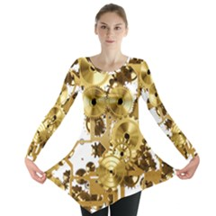Mechanical Steampunk Long Sleeve Tunic