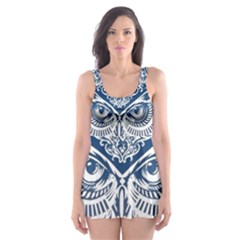 Owl Skater Dress Swimsuit