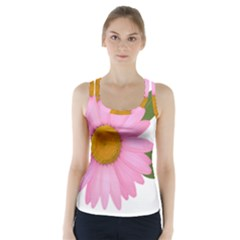 Pink Daisy Clipart Racer Back Sports Top