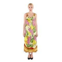 Pizza Clip Art Sleeveless Maxi Dress