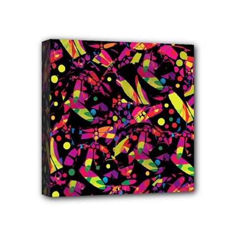 Colorful dragonflies design Mini Canvas 4  x 4
