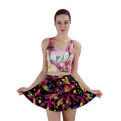 Colorful dragonflies design Mini Skirt