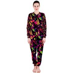 Colorful dragonflies design OnePiece Jumpsuit (Ladies)