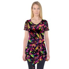 Colorful dragonflies design Short Sleeve Tunic