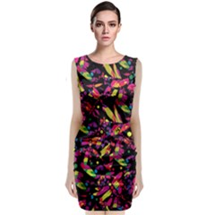 Colorful dragonflies design Classic Sleeveless Midi Dress