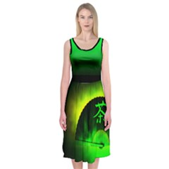 Green Tea Midi Sleeveless Dress