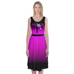TIME TO ZOUK Midi Sleeveless Dress