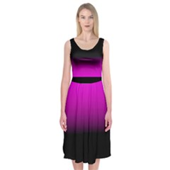 Pink Black Colorgrade Midi Sleeveless Dress