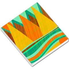 Orange and green landscape Small Memo Pads