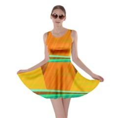 Orange and green landscape Skater Dress