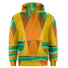 Orange and green landscape Men s Pullover Hoodie