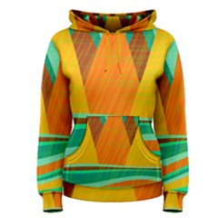 Orange and green landscape Women s Pullover Hoodie