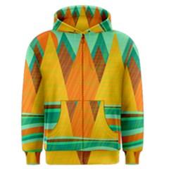 Orange and green landscape Men s Zipper Hoodie