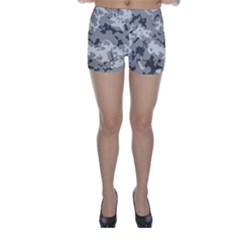 Winter Camouflage Skinny Shorts