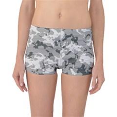 Winter Camouflage Boyleg Bikini Bottoms