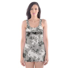 WINTER CAMOUFLAGE Skater Dress Swimsuit