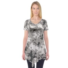 Winter Camouflage Short Sleeve Tunic