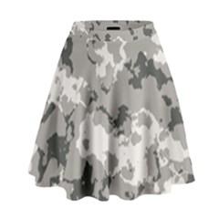 Winter Camouflage High Waist Skirt